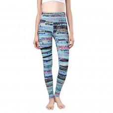High Waisted Printed Compression Yoga Pants Women Workout Pants Mesh Yoga Leggings