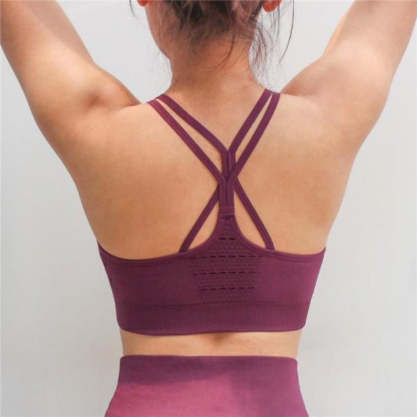 Women Energy Seamless Sports Bra Workout Tops Fitness Stappy Yoga Bra